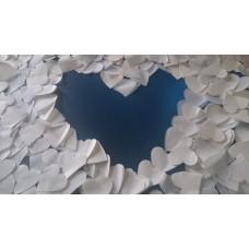 CONFFETI BULK - WHITE HEARTS (NEW 2014)