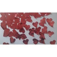 CONFFETI BULK - RED METALLIC HEARTS (NEW 2014)